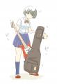 ギターをソフトケースに入れるのが下手な女子高生