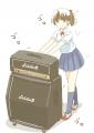 ギターアンプ転がしてる女子高生