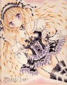 手描きイラスト オリジナル ゴスロリの女の子